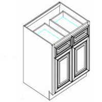 RTA White Kitchen Cabinets - Base Cabinet B30 - 30W X 24D X 34 1/2H - B30-WC