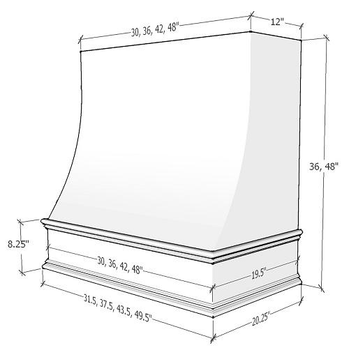 Espresso Shaker Cabinets - CHA-1V4848-ES