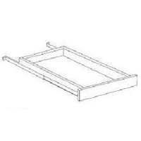 Shaker White Kitchen Cabinets - Pull Out Tray - Fits B18