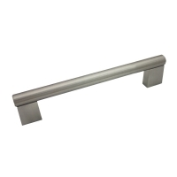 "Kitchen Cabinet hardware - Summer - 5-7/8"" overall length cabinet bar pull. Holes are 128mm center-to-center. 1/2"" Diameter. Packaged with two 8/32"" x 1"" screws. Finish: Satin Nickel - 77-128SN/377"