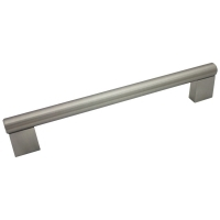 "Kitchen Cabinet hardware - Summer - 8-3/8"" overall length cabinet bar pull. Holes are 192mm center-to-center. 1/2"" Diameter. Packaged with two 8/32"" x 1"" screws. Finish: Satin Nickel - 77-192SN/377"