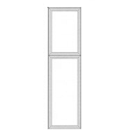 "Charleston Antique White Kitchen Cabinets - Tall Decorative End Panel - 23-1/2""W X 78-1/2""H X 3/4""D"
