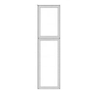 Light Gray Kitchen Cabinets - Greige Maple - Pantry Decorative Doors BDD8427 - 27W X 3/4D X 84H - BDD8427-GM