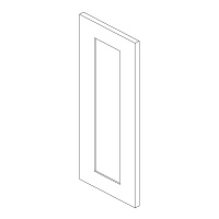"Shaker White Kitchen Cabinets - Decorative Door Panel - 6""W X 29""H"