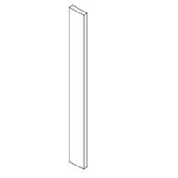 "Shaker White Kitchen Cabinets - Wall Filler - 3"" x 42"" x 3/4""T - SOLID"