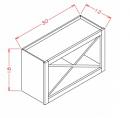 White Shaker Cabinets - WXR3018-SW