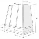 White Shaker Cabinets - ASH-3V4848-SW